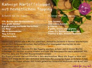 Rezept Rahmige Kartoffelsuppe