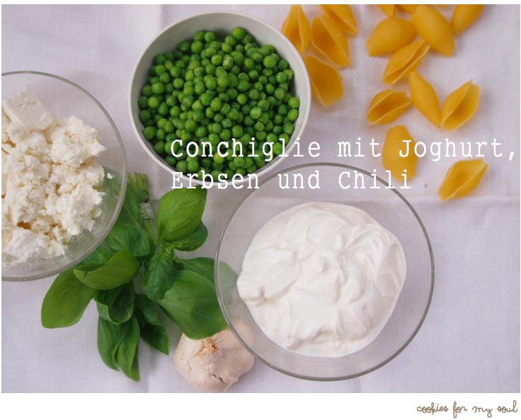Conchiglie mit Joghurt