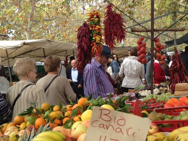 Herbstkucher Markt in Santa Maria