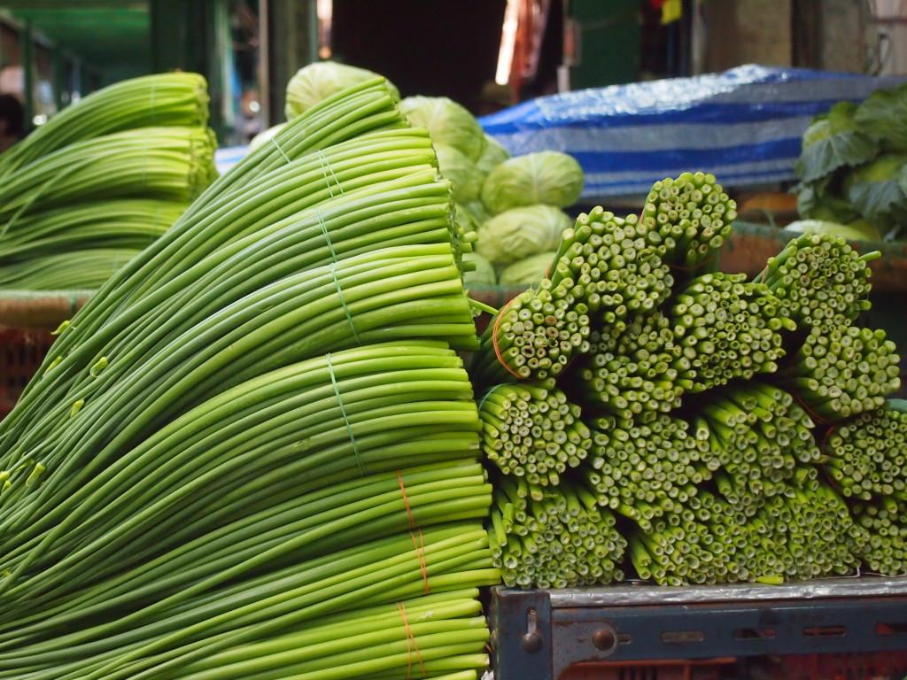 Gemüse auf dem Pak Khlongg Talaat
