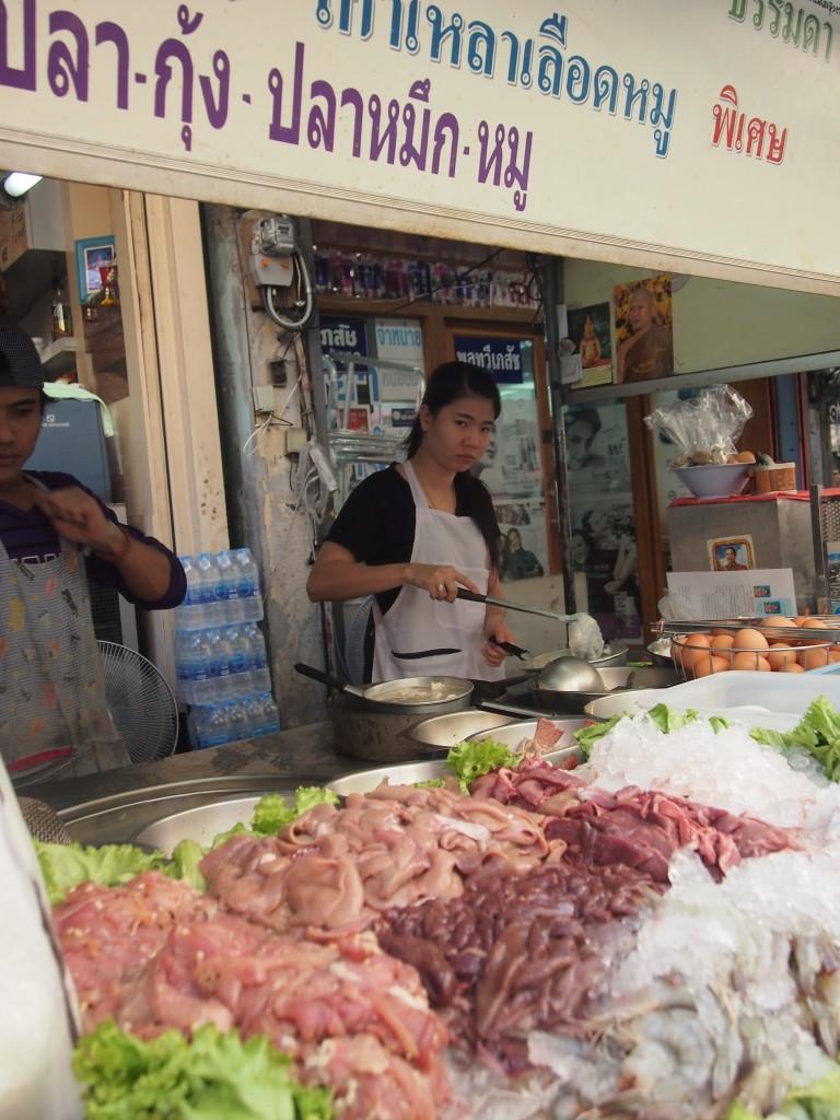 Bude auf dem Wang Lang Market