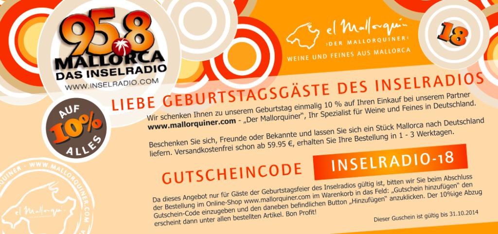 "Gutscheincode Inselradio ""El mallorquin"""