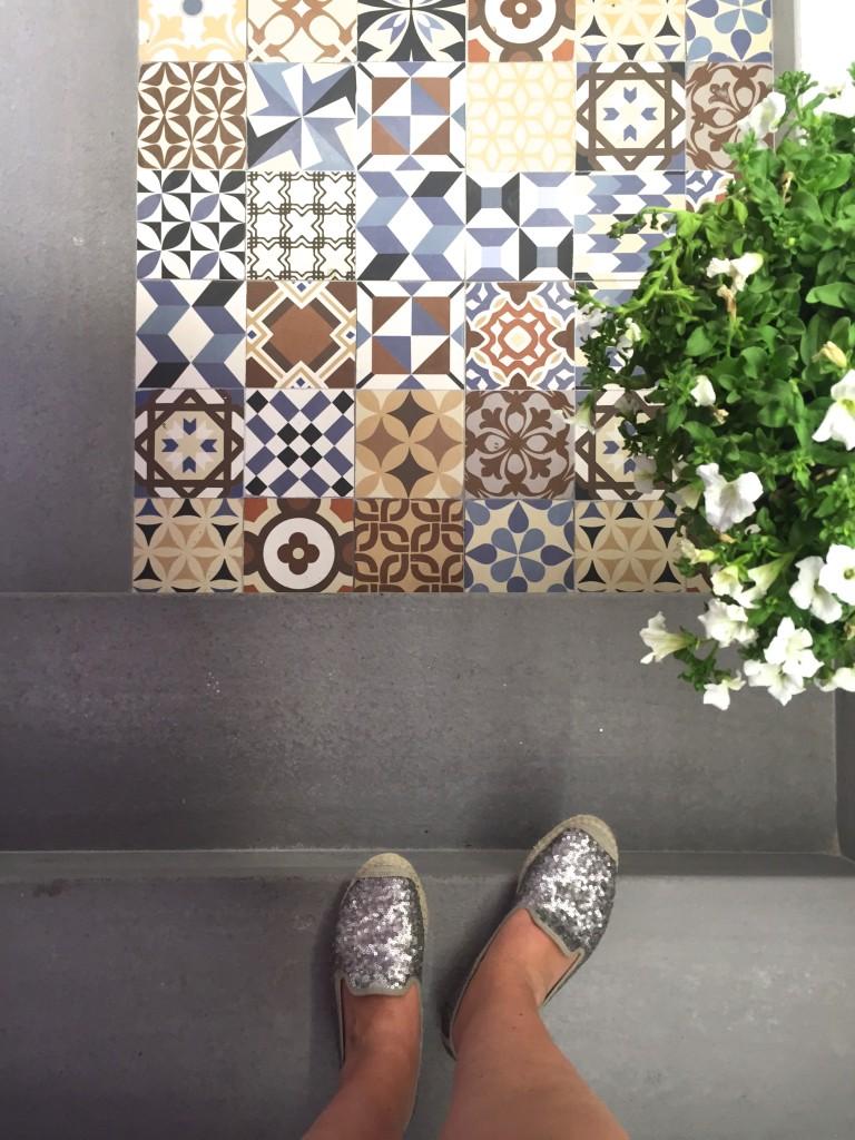 Toller Boden in der Markthalle San Juan, Palma de Mallorca