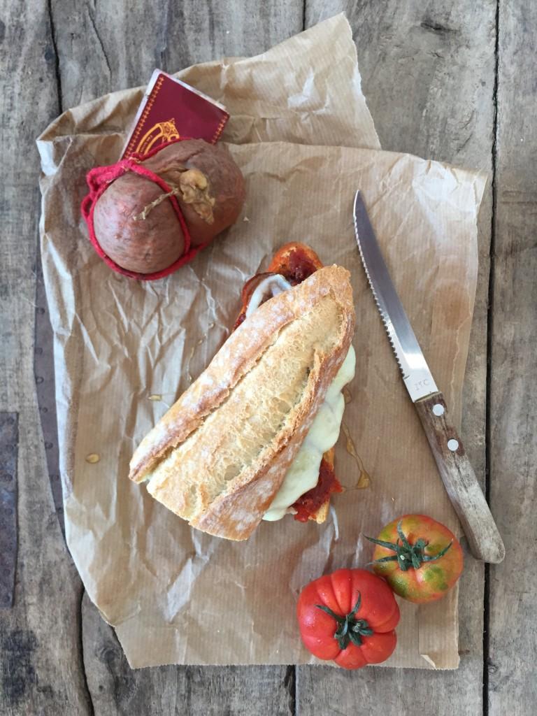 Sandwich mit Sobrasada und Machego
