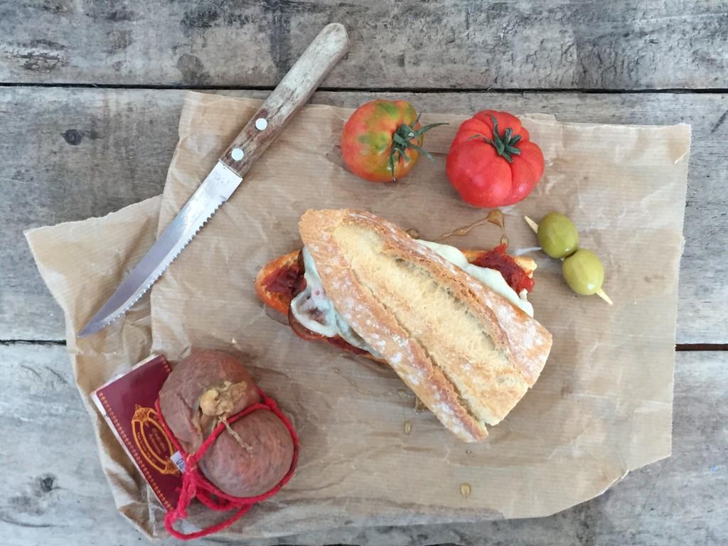 Sandwich mit Sobrasada und Manchego
