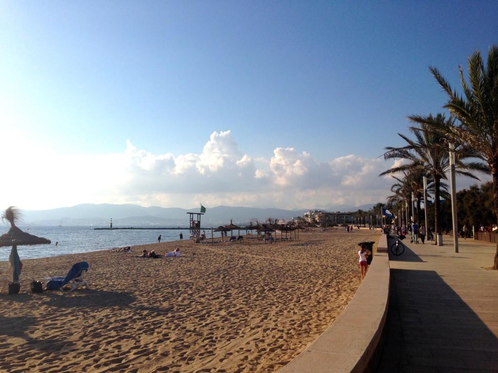 Am Strand von Ciudad Jardin, Mallorca