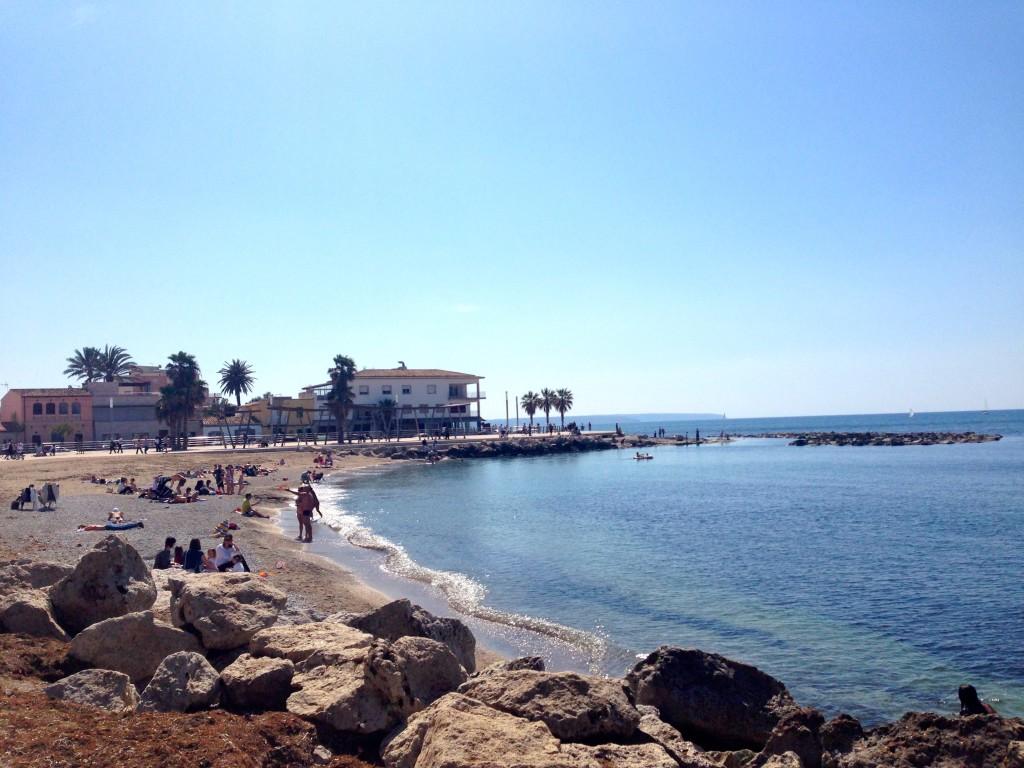 Am Strand von Portixol, Mallorca