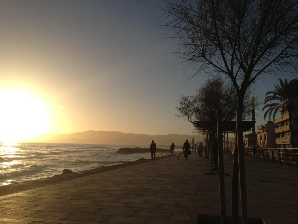 Die Promenade von Es Molinar, Mallorca