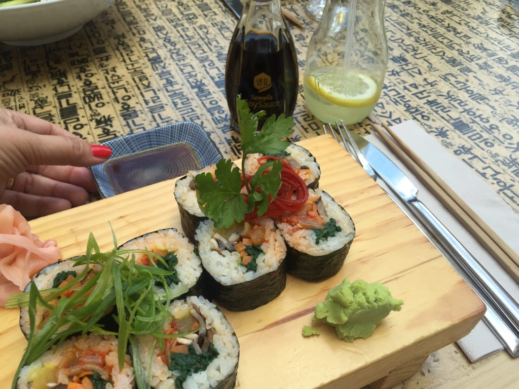 Sushi mit KimChi im Bi Bap Mallorca