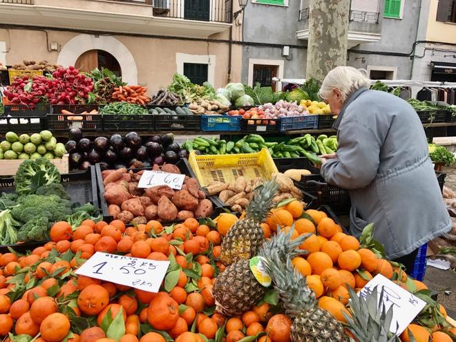 Wochenmarkt in Binissalem