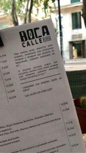 Karte der Boca Calle Bar
