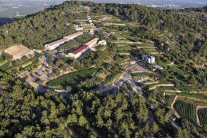 Luftaufnahme vom Weingut Castell Miquel