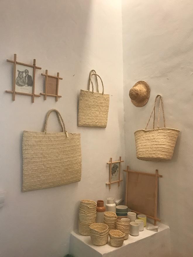 Korbtaschen im Ca Na Toneta Shop