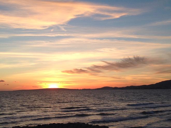 Silvester auf Mallorca Sonnenuntergang