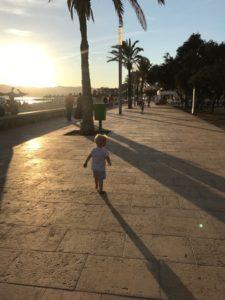 Abend am Strand von Ciudad Jardin
