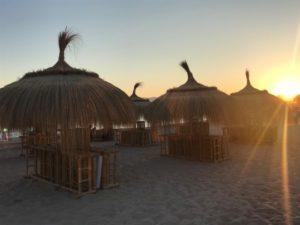 Sonnenuntergang in Assaona Gastrobeach