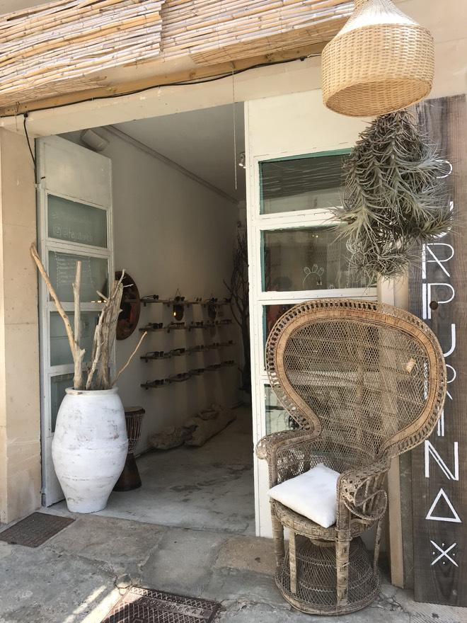 Mallorca Urlaub 2019 Santanyi Interieur Shop