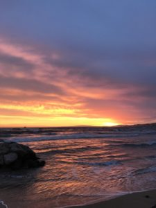 Sonnenuntergang im Herbst auf Mallorca