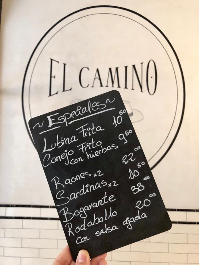 Tageskarte im El Camino Palma