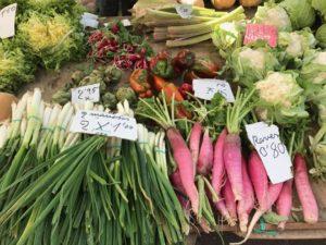 Gemüse auf de Wochenmarkt auf Mallorca