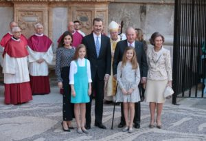 Königsfamilie zu Ostern auf Mallorca