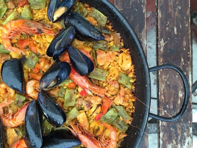 Paella im El Bugalow Mallorca