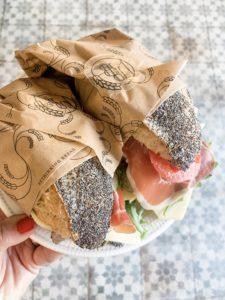 Sandwich mit Belag bei Palma Bread