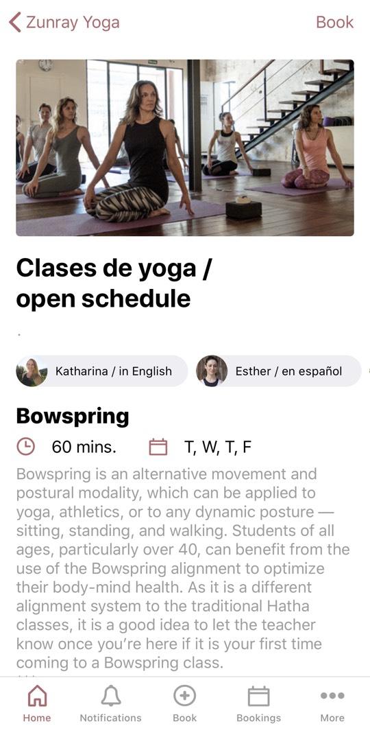 Yoga Studio ZUNRAY in Palma de Mallorca hat eine eigene App