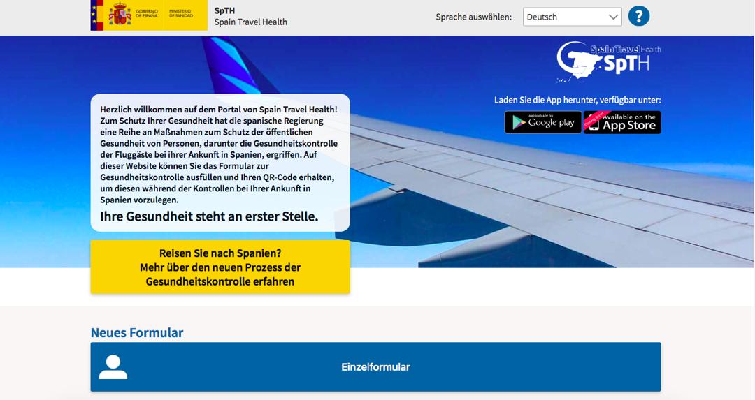 QR Code beantragen für Flüge nach Mallorca