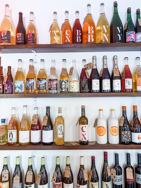 Weinauswahl in der Bar La Sang in Palma de Mallorca