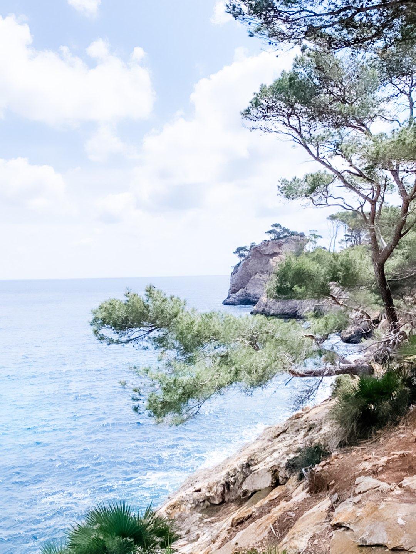 Klippen an der Cala Murta auf Mallorca