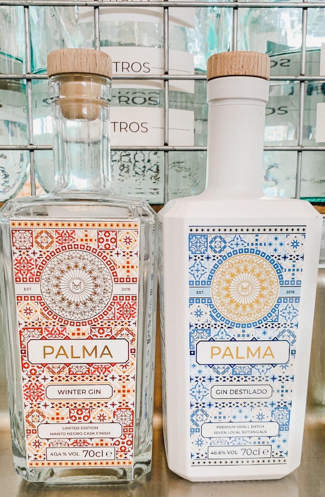 Design der Palma Gin Flaschen