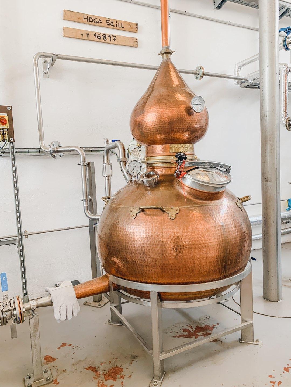 Kupferkessel in der Mallorca Distillery
