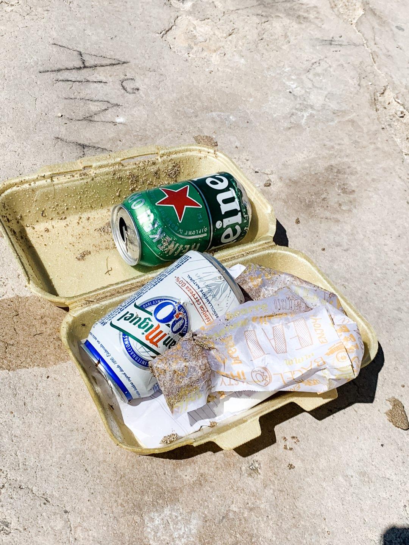 Müll a Strand von Palma de Mallorca