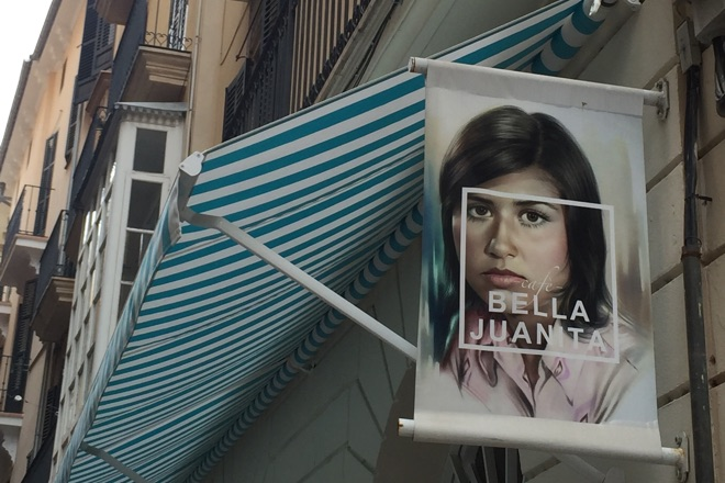 Der Eingang vom Bella Juanita in Palma de Mallorca