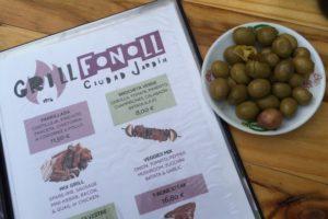 Speisekarte im Restaurant Grill Fonoll Mallorca