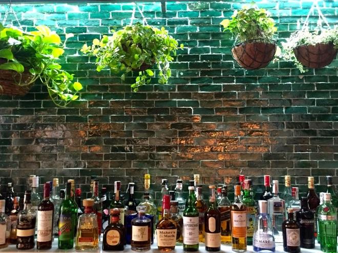 Die begrünte Bar im Amaya