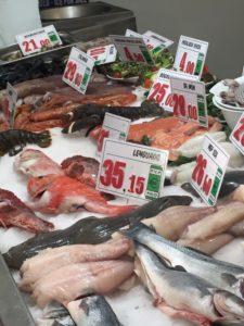 Fisch zur Auswahl im Parada del Mar