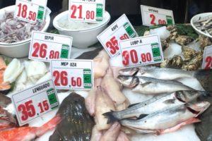 Frischer Fisch im Parada del Mar