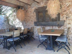 Terrasse im Patio des Livingdreams auf Mallorca