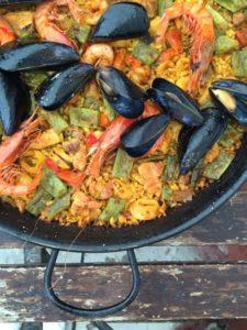 Paella im el Bungalow auf Mallorca
