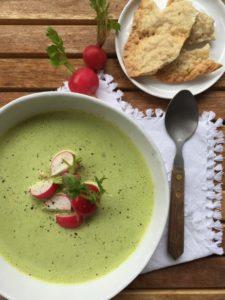 grüne Radieschensuppe