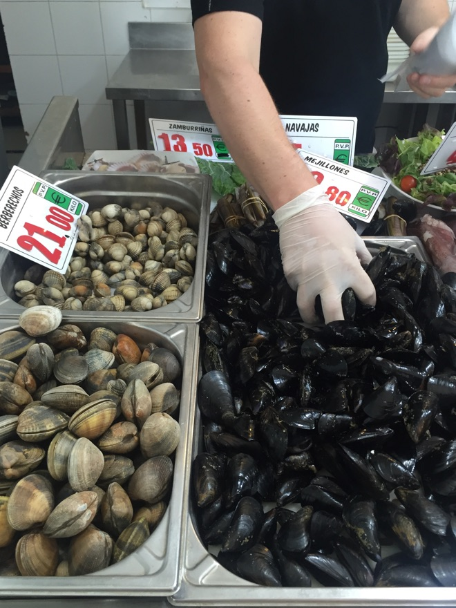 Muscheln und Seafood Parada del Mar