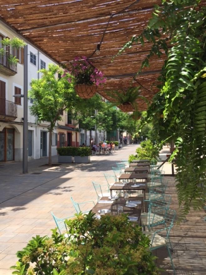 Der Außenbereich des Amaya
